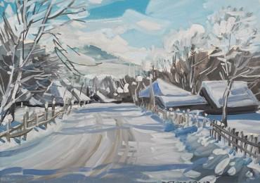 Владислав Ганзел презентував в Ужгороді серію художніх полотен «З подорожей по Карпатах»